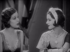 """Loretta Young & Myrna Loy in """"The Truth about Youth"""" (1930)"""
