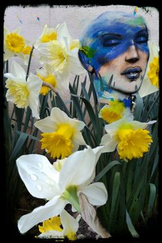 Daffodils and Narcissus already in bloom . I thought it was winter it must be believed that no . composition improved by a very beautiful painting by Enki Bilal on beauty. Beautiful Paintings, Daffodils, Things To Think About, Composition, Bloom, Winter, Beauty, Art, Winter Time