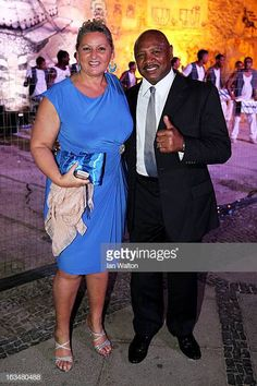 Laureus Academy Member Marvin Hagler and guest attend the Laureus Welcome Party at the Rio Scenarium during the 2013 Laureus World Sports Awards on. Marvelous Marvin Hagler, Sports Awards, Welcome To The Party