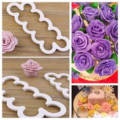 Sugar and Spice Kitchens Rose Fondant Cutters Edible Decorations PRO Cake Decorating Gum Paste Flowers Rose Kit Ever 3 Steps Cookie Cutters Supplies Set of 3 -- To view further for this item, visit the image link.(This is an Amazon affiliate link and I receive a commission for the sales)