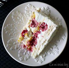 RaspberryMango-Meringue CreamCake