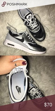 Nike Air Max Thea Mens Trainers Black, Lake blue, White [ZdmsL] | Nike |  Pinterest | Trainers, Lakes and Air max thea