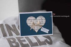 Weihnachtskarte für die Liebste Herz Mann Stampin Up