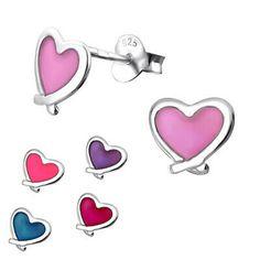 Kinder Damen Ohrringe LIBELLE  echt 925 Silber  Mädchen Ohrstecker bunt Geschenk