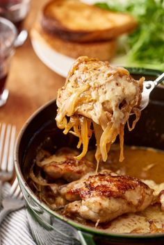 Dinner Recipe: Braised French Onion Chicken with Gruyère — Quick and Easy Weeknight Dinners