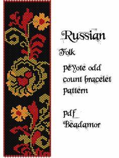 Modèle de bracelet Peyote empreint de Delica 11 dont les couleurs vous pouvez facilement modifier à nimporte quel genre de cylindre ou semences perles