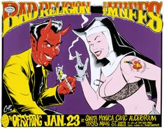 Coop's Bad Religion Concert Poster (1993)-Click for larger image