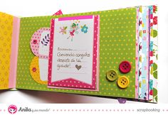 Mini álbum hecho con materiales de scrapbooking  interior 3