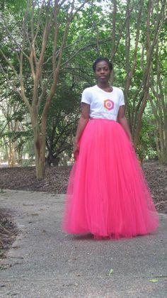 O.C. Long Tulle Skirt   $100