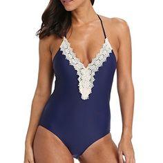 Pour femmes Ensemble bikini maillots de bain Taille haute push-up rembourré Maillot de bain maillots de bain rétro (XL = Pointure 47, rayé Noir et blanc)