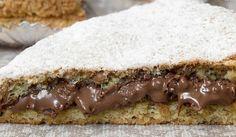 Plněný oříškový dort bez mouky