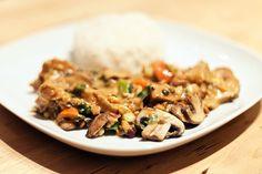 Gemüse mit Erdnuss-Kokos-Sauce und Reis - tried & approved =)