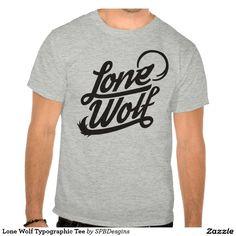 Lone Wolf Typographic Tee