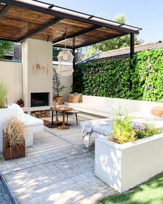 Outdoor Rooms, Outdoor Gardens, Outdoor Living, Garden Deco, Terrace Garden, Country Landscaping, Backyard Landscaping, No Grass Backyard, Small Balcony Design