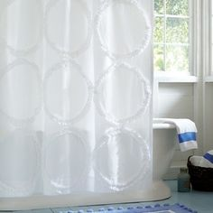 Ruffle Rings Shower Curtain shower-curtains