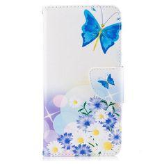 Housse Huawei Y6 2017 - Papillon Bleu et Marguerite