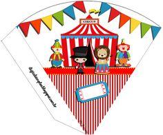 "Convites Digitais Simples: Kit de Personalizados Tema ""Circo"" para Imprimir"