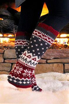 Cozy Nordic Leg Warmers
