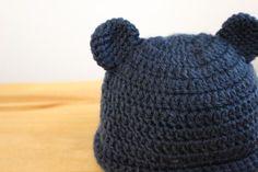ベビーくまさん帽子 #ハンドメイド #ニット帽 #ベビー Crochet Baby Hats, Baby Knitting, Knitted Hats, Caps Hats, Beanie, Knits, Handmade, Beanies, Tejidos