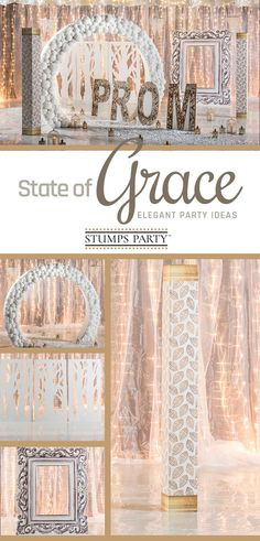 Choose our magnificent & elegant State of Grace theme kit to quickly transform your celebration into a special night. Complement your event with personalized elegant favors, invitations, and more! Shop all of our elegant party supplies to make your event complete!