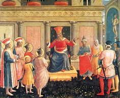 San Marco Altarpiece: Cosmas and Damian before Lycias by Fra Angelico