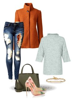 """""""Untitled #6"""" by mariannanna on Polyvore featuring Lands' End, Valextra, Christian Louboutin, Soaked in Luxury and Hoorsenbuhs"""
