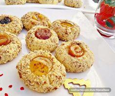 Jednoduché mandľové koláčiky s marmeládou na štedrovečerný stôl