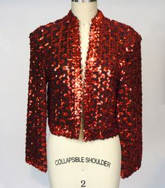1970s Lilli Diamond Red Sequin Evening by NobleSavageVintage, $65.00