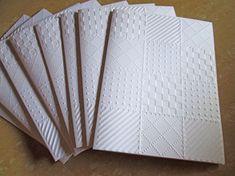 Courtepointe en relief des cartes, cartes de voeux matelassé, Note Cards, cartes de correspondance vierges, papeterie, cartes de remerciement, Note Set de cartes, cartes de correspondance en relief