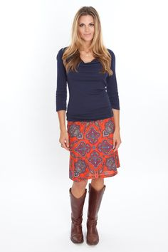 Liberty Crew Paisley Auburn /All Swing Skirts - Sevier Skirts. This skirt & shirt are just my style.