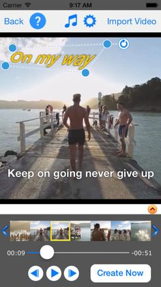 TextVideo - Text on Video on App Store:   TextVideo will give you a simple way to add text on video. Especially text can be warped rotated and animated. Features - Hundred fonts ar...  Developer: Jacky Wu  Download at http://ift.tt/1I2oThD