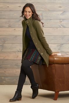 Fair Trade Organic Cotton Fleece Funnel Neck Jacket   A truly fabulous  piece! Soft and 878f10ac2