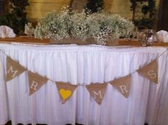 Country wedding head table.