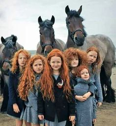 A breed of people...Gingers...are the most rare of colorings in this world...these lassies are gorgeous!