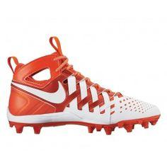 350d6aa361a Nike Huarache 5 Lacrosse Cleats - White Orange New Nike Huarache