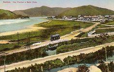 São Vicente - SP - Praia do Itararé e parte da Ilha Porchat - 1915