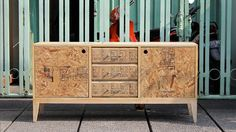 Refined and reclaimed plywood furniture by Ivan Christianto