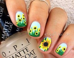 """Flowers are the most typical design for summer. Summer is for sun so nails should be colorful and bright. Sunflower is the classic summer nail art design to make your summer more alive because of its yellow color which is the sign of positivity. Get ready for spring party with sunflower nail art that will … Continue reading """"88 Amazing Sunflower Nail Art Design For This Summer 2017"""""""