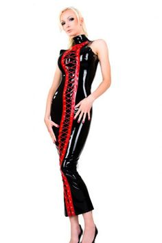 Goth Wetlook Leather Outfit Feitsh Vampire Vamp Cyber Goth - Dresses