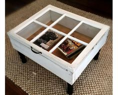 Recycle an old window into a coffee table   DIY Home Decor Ideas on a Budget   Easy and Creative Decor Ideas   Click for Tutorial