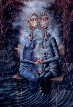 The Lovers by Remedios Varo    How little the computer screen does her art justice.