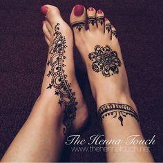 mehndi foot