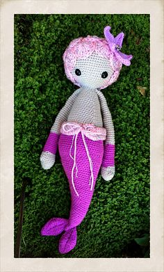 MICI the mermaid made by AnnabelsArmoire / crochet pattern by lalyla