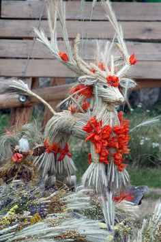 Straw reindeer    Pirogovo museum, Kyiv