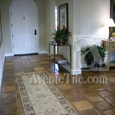 Rustic Pavers (12x12 in Tuscan Mustard) for the Foyer, Entries by Avente Tile, via Flickr