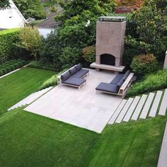 Image result for minimalist multiple level garden backyard