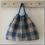 【無料編み図】ギンガムチェックのギャザーバッグ Free Crochet, Knit Crochet, Japanese Nail Art, Crochet Books, Handmade Bags, Baby Knitting, Gingham, Free Pattern, Diy And Crafts