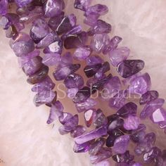 """1 strand Free Shipping Fashion Jewelry Natural Loose Chip Purple Crystal Beads 34""""  S011"""