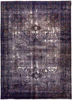 Oh I love - over dyed vintage rug