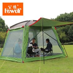 94.50$ Buy here - //alibql.worldwells.pw/go & nature Hewolf 3-4 persons Fully-Automatic Tent 4 Doors Automatic ...